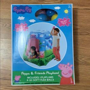 Peppa pig kids play land ball pit